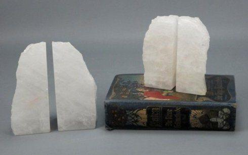 Blue Ocean Traders   White Quartz Bookends $98.00