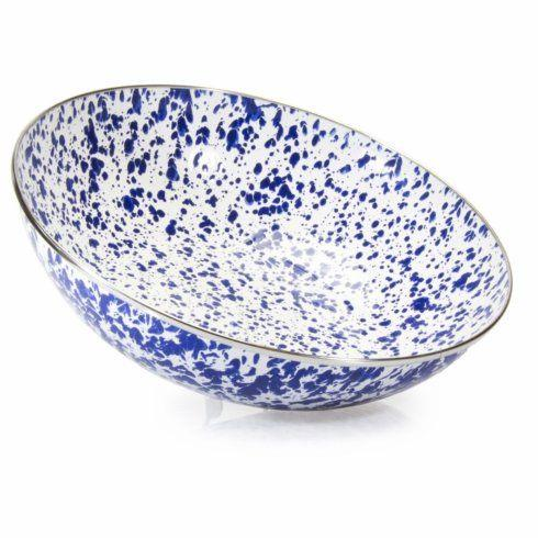 Golden Rabbit   Cobalt Swirl Catering Bowl $48.00
