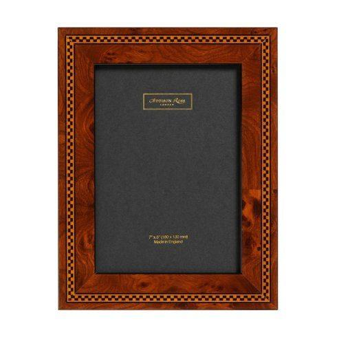 $69.50 Brown Check Marquetry Frame 4x6
