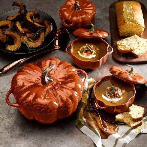 $42.50 Cast Iron 0.75-qt Pumpkin Cocotte  - Burnt Orange