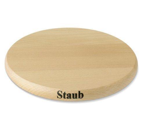 "$57.00 Staub 9"" Round Magnetic Wood Trivet"