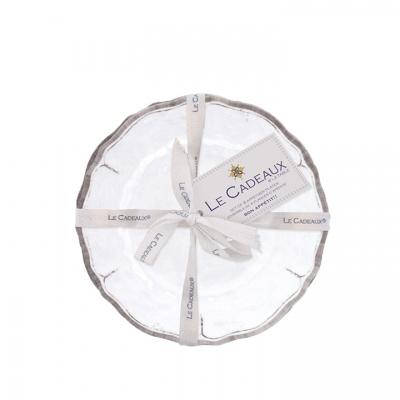 $34.95 Rustica Antique White Appetizer Plates ~ Set of 4