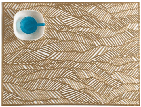 $10.95 Drift Placemats ~ Brass
