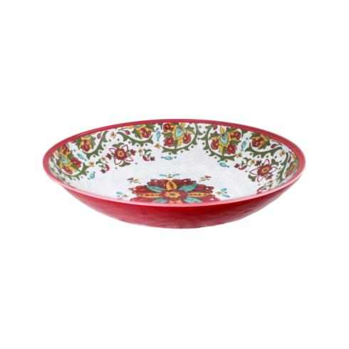 $28.95 Allegra Red Oval Serving Bowl