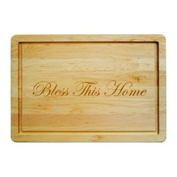 "$101.95 Personalized 16"" Wooden Cutting Board"