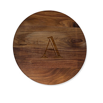 "$150.95 Personalized 16"" Lazy Susan ~ Walnut *"