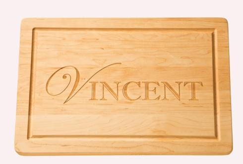 "$121.95 Personalized 18"" Wooden Cutting Board"