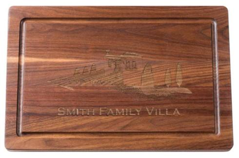 "$146.95 Personalized 18"" Walnut Cutting Board"