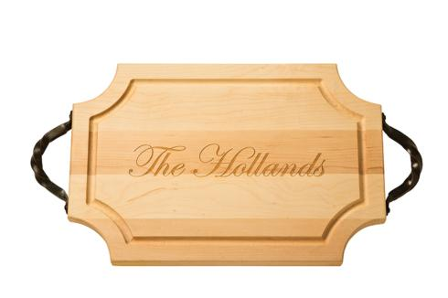 "$159.95 Personalized 18"" Scalloped Wooden Cutting Board *"