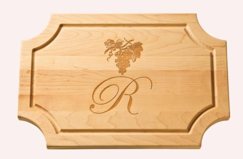 "$121.95 Personalized 18"" Scalloped Wooden Cutting Board"