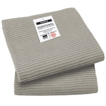 $10.95 Kitchen Towel ~ Ripple ~ London Gray