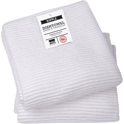 $10.95 Ripple Kitchen Towel ~ White