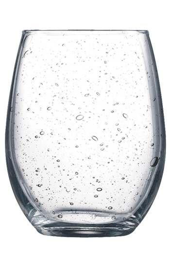 $10.95 Bubble Glass Stemless Wine Glass ~ Clear