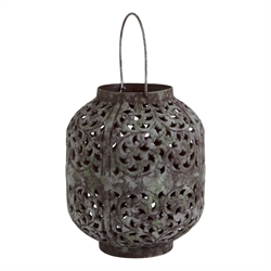 $72.95 Small Vine Patina Verdigris Lantern