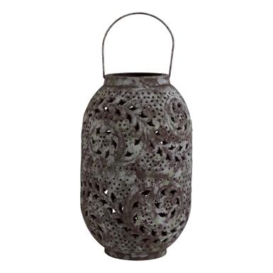 Tag   Large Vine Patina Verdigris Lantern $103.95