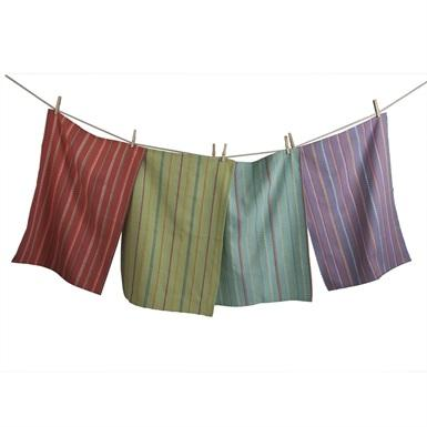 $24.95 Striped Dish Towel ~ Set of 4 ~ Spring