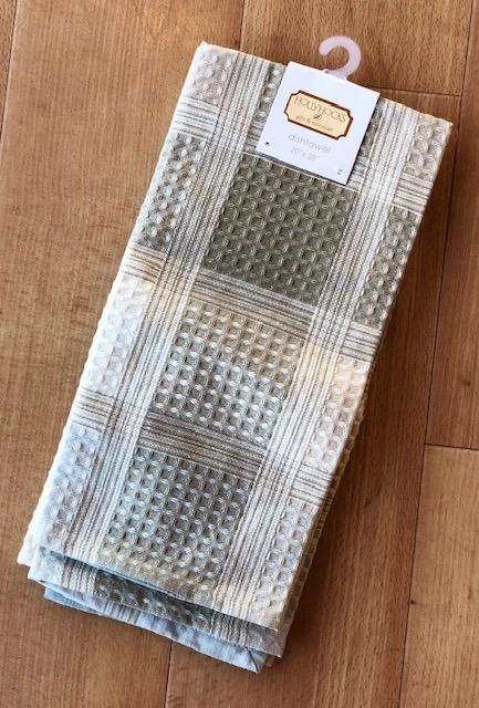 $6.95 Waffle Check Dishtowel ~ Natural