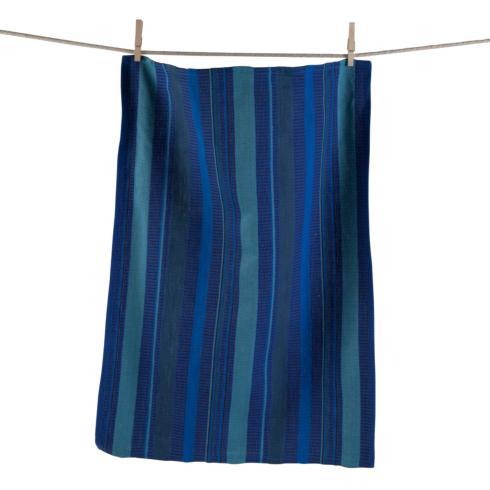 $6.95 Dishtowel ~ Dobby Stripe Blue