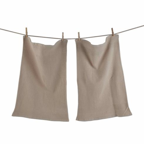 Tag   Waffle Kitchen Towel ~ Set of 2 ~ Cream $22.95