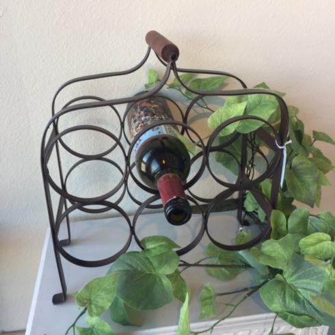 Tag   Antique Broze 6 Bottle Wine Rack $51.95