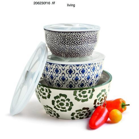 Tag   Ceramic Lidded Bowls ~ Set of 3 ~ Bali $51.95