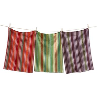 $19.95 Kitchen Towel ~ Set of 3 ~ Artisan Stripe