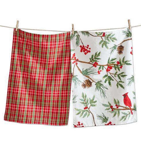 Tag   Dishtowels ~ Set of 2 ~ Cardinals $13.95