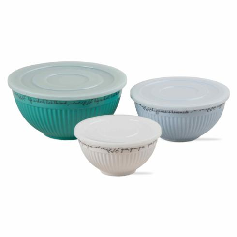$51.95 Melamine Lidded Bowls ~ Set of 3