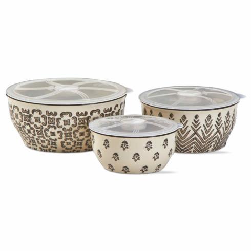 $56.95 Ceramic Lidded Bowls ~ Set of 3