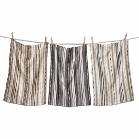 Tag   Kitchen Towels Artisan Stripe ~ Set of 3  $19.95