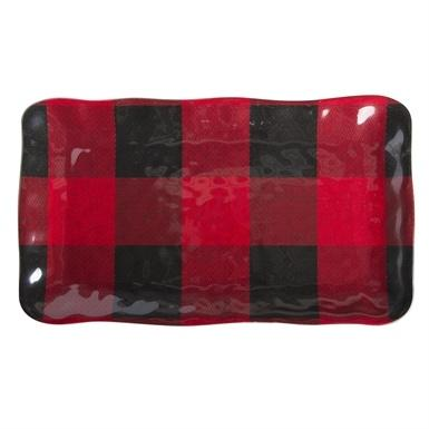 Tag   Melamine Rectangular Platter ~ Buffalo Plaid $36.95