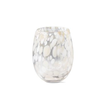 Tag   Confetti Stemless Wine Glass ~ Sand $14.95