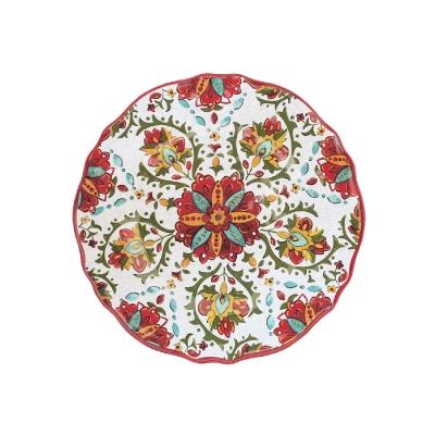 $14.95 Allegra Red Salad Plate