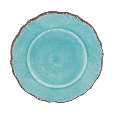 Le Cadeaux   Antiqua Turquoise Salad Plate $14.95