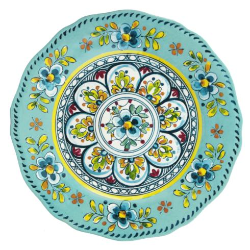 Le Cadeaux   Madrid Turquoise Dinner Plate $18.95