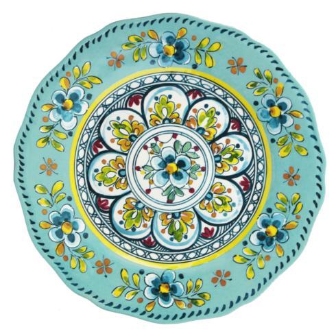 $18.95 Madrid Turquoise Dinner Plate