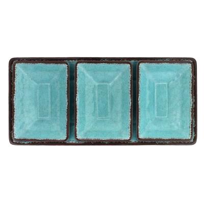 $36.95 Antiqua Turquoise 4 Piece Dipping Set