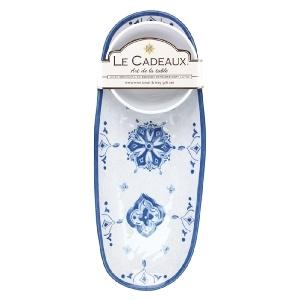 Le Cadeaux   Moroccon Blue Bowl/Tray Gift set $29.95