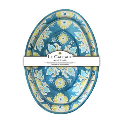 Le Cadeaux   Tangerine Nesting Platters ~ Set of 2 $51.95