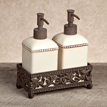 $63.95 Soap & Lotion Dispenser Set ~ Cream