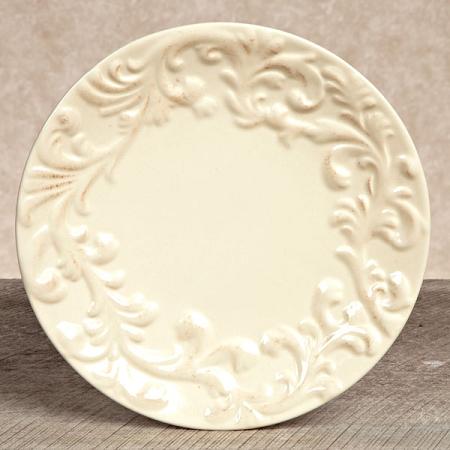 $18.95 Acanthus Leaf Salad Plate ~ Cream