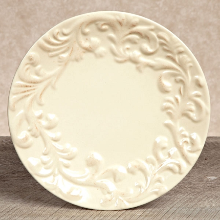 $18.95 Acanthus Leaf Salad Plate ~ Cream