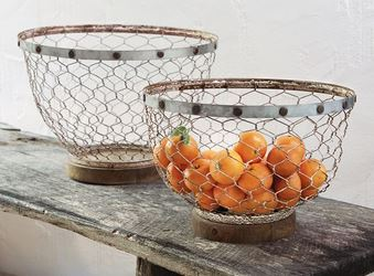 $39.95 Chicken Wire & Tin Small Bowl