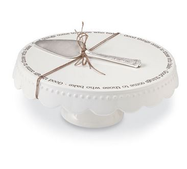 "$55.95 Cake Plate Set ~ ""Good Things"""