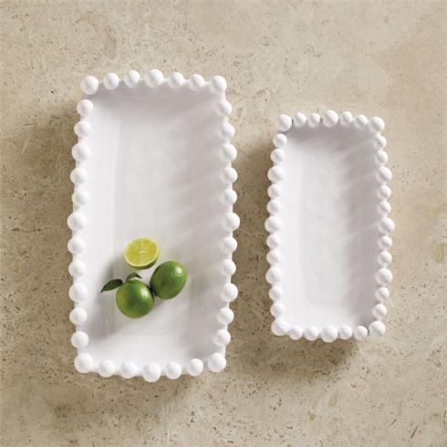 $27.95 Ceramic Small Raised Dot Platter ~ White