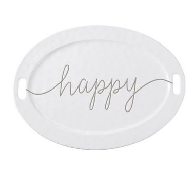 $45.95 Large Happy Ceramic Serving Platter