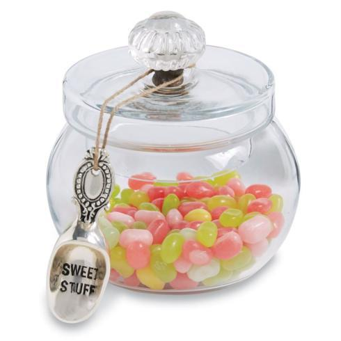 "$22.95 Glass "" Door Knob"" Sweet Jar Set"