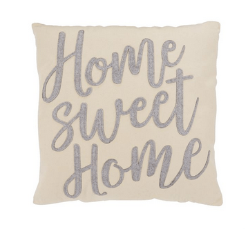 "$33.95 Decorative Pillow ~ "" Home Sweet Home"""