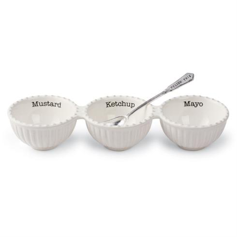 Mudpie   Triple Relish Set with Server $22.95