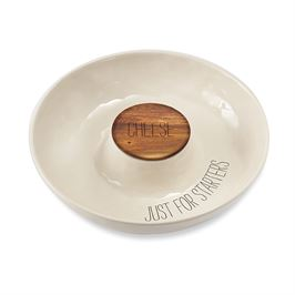 $41.95 Ceramic Cheese & Cracker Server